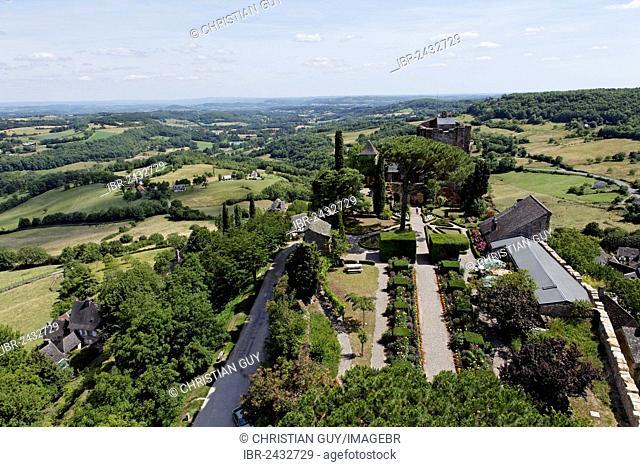 The castle, Turenne, labelled Les Plus Beaux Villages de France, Corrèze, Limousin, France, Europe