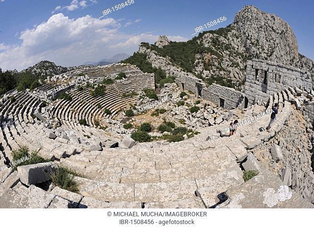 Theatre in the mountains of Termessos near Antalya, Turkey, Asia