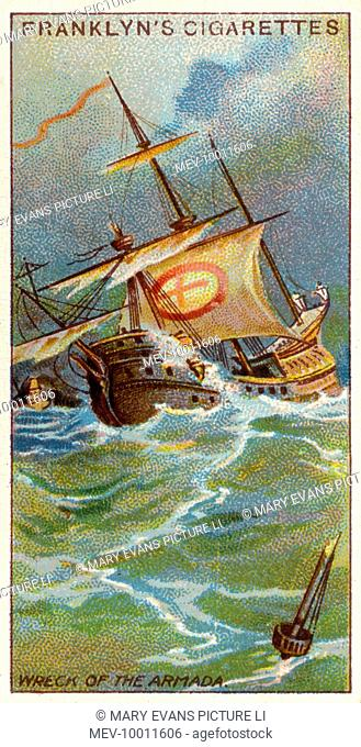 THE SPANISH ARMADA The dispersed Spanish vessels are wrecked by storms round Ireland and western England