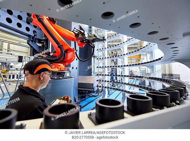 Robot, Tool magazine, Machining Centre, CNC, Vertical lathe, Design, manufacture and installation of machine tools, Gipuzkoa, Basque Country, Spain, Europe