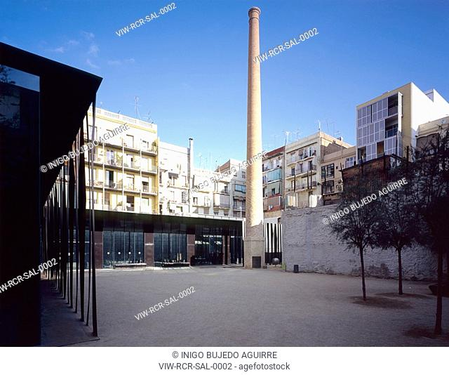 SAINT ANTONI LIBRARY, OLD PEOPLES HOME AND PLAZA, BARCELONA, SPAIN, Architect RCR ARQUITECTES