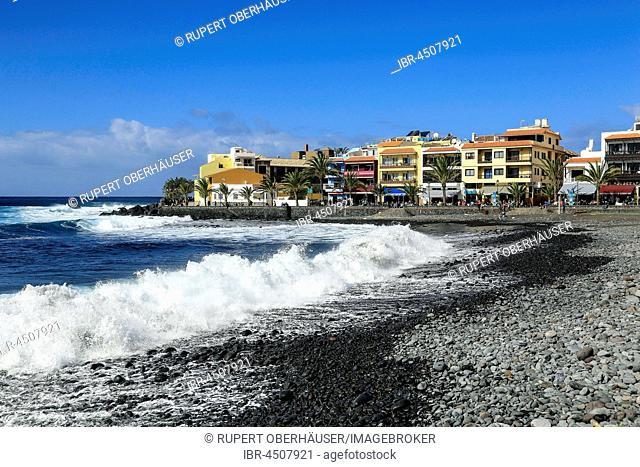 Beach ion sistrict La Playa, Valle Gran Rey, La Gomera, Canary Islands, Spain