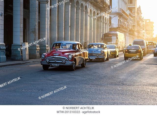 Old American car on street, Havana Cuba
