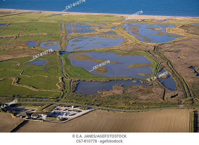 Cley Marsh and Visitor Centre Norfolk UK October