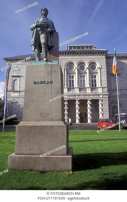 Europe, Republic of Ireland, Ireland, Dublin. Statue of Dargan stands outside the National Gallery in Dublin in County Dublin