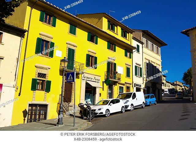 Street goign from Piazza Mino to Piazza Garibaldi, Fiesole, near Florence, Tuscany, Italy