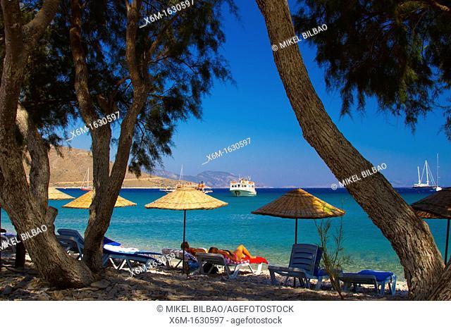Beach  Palamutbuku village  Datca peninsula, Mugla province, Anatolia, Turkey