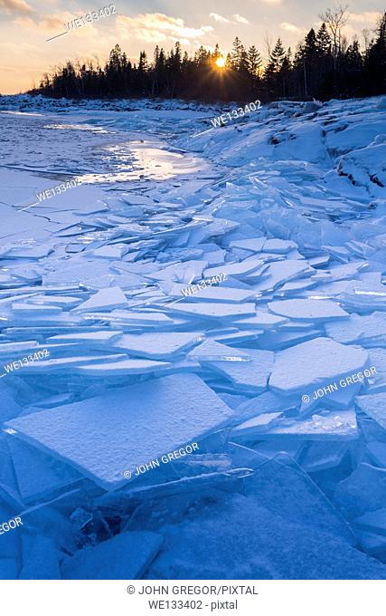 Ice Formations at Stoney Point, Lake Superior, Minnesota