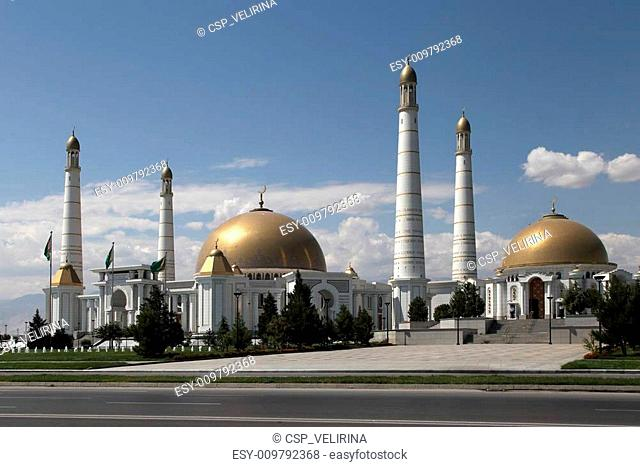 Mosque in Kipchak and mausoleum, in which the former president o