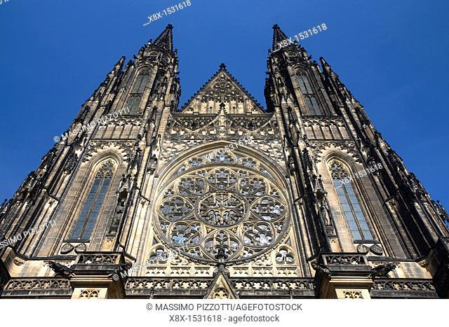 Saint Vitus Cathedral's facade, Prague, Czech Republic
