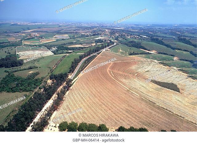 Aerial view, Plantations, Indaiatuba, Sao Paulo, Brazil