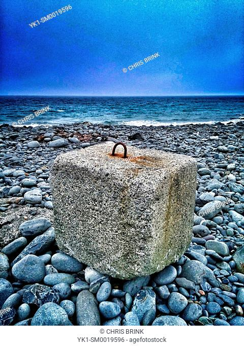 Concrete boulder sea defence