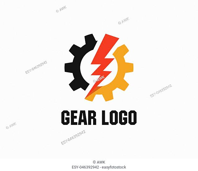 Gear Logo Template vector icon illustration design