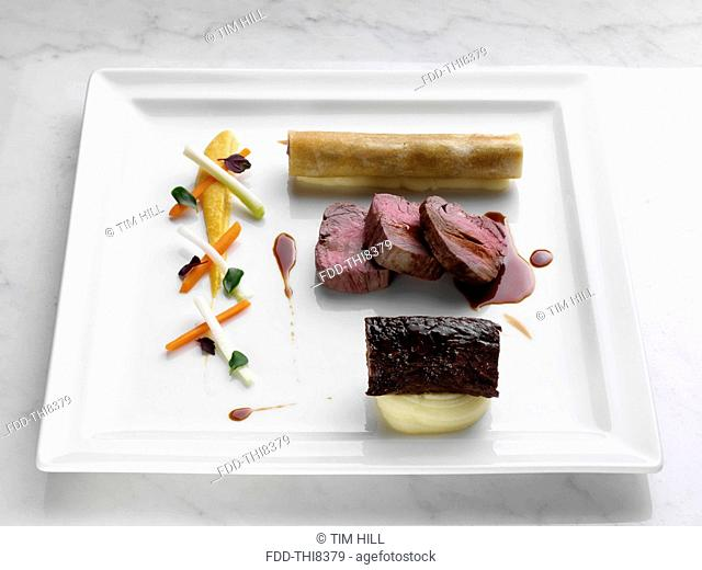 gourmet beef meal