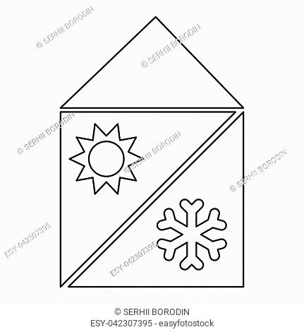 Home cooling and heating system