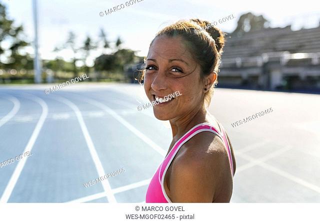 Portrait of a smiling athlete