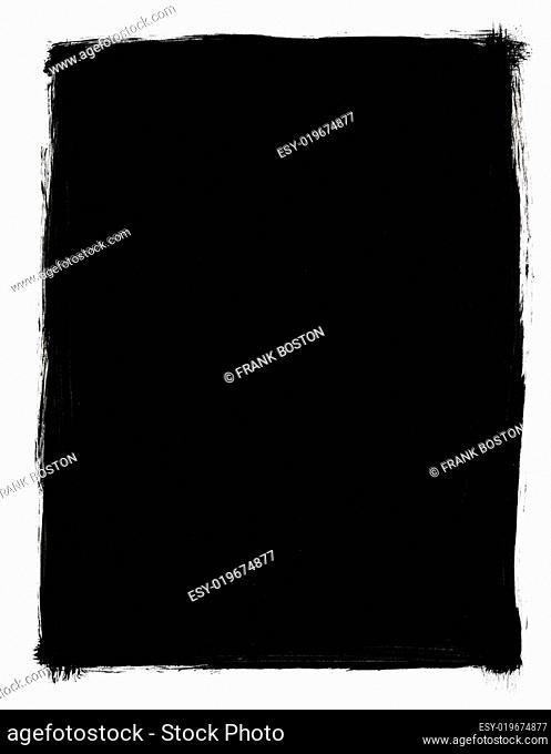 Rectangular Grunge black and white frame