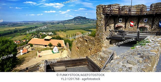 Ruins of Szigiglet castle, Balaton, Hungary