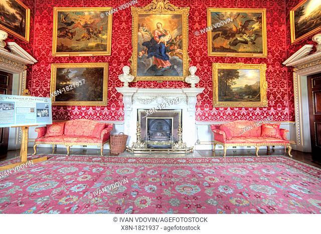 The Saloon, Holkham Hall, Norfolk, England, UK