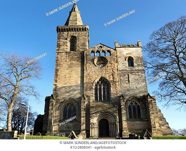 West Front of the Abbey Nave at Dunfermline abbey and Palace Dunfermline Fife Scotland