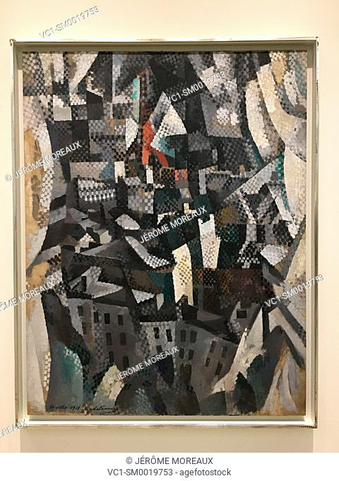 The City, Robert Delaunay, 1911, Oil on canvas, Guggenheim Museum, New York city