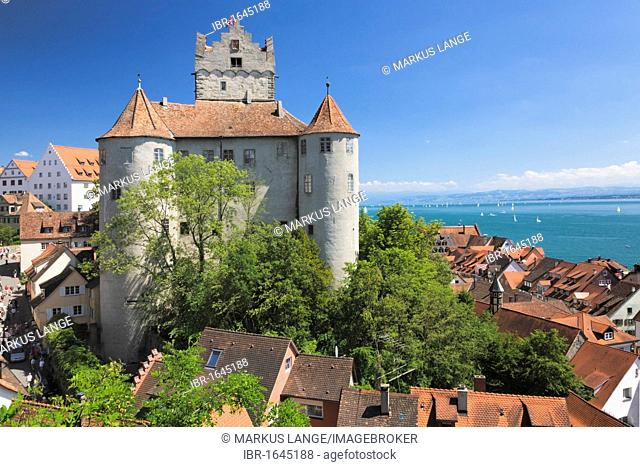 Meersburg castle, also known as Alte Burg castle, Meersburg, Lake Constance, Baden-Wuerttemberg, Germany, Europe