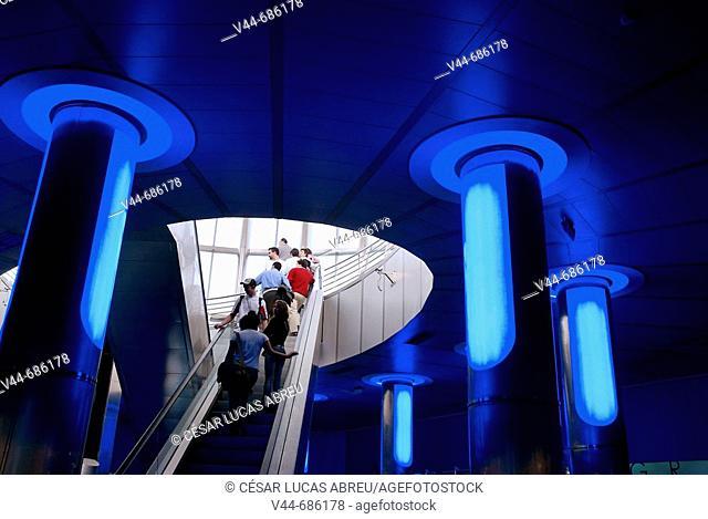 Main entrance of Oceanografic, City of Arts and Sciences, Valencia. Comunidad Valenciana, Spain