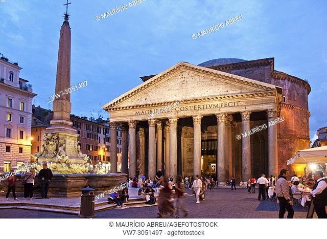 The Pantheon, a Unesco World Heritage Site, was originally built during the reign of Augustus as a temple to all the gods of Rome, and rebuilt, as we know it