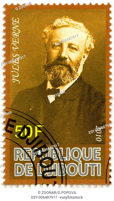 DJIBOUTI - 2010: shows Jules Verne (1828-1905)