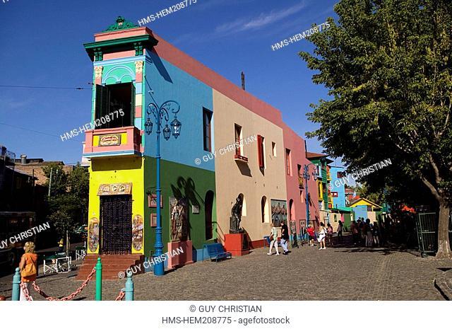 Argentina, Buenos Aires, La Boca District, entry of El Caminito Street