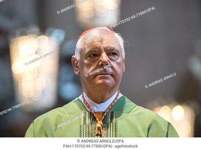 Cardinal Gerhard Ludwig Muller pictured in the Cathedral in Mainz, Germany, 02 July 2017. The previous day it became known that Pope Francis had dismissed...