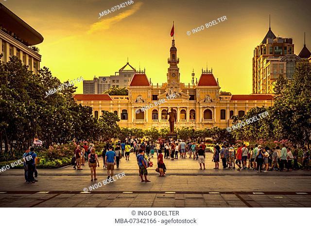 Asia, Southeast Asia, South Vietnam, Vietnam, Saigon, Ho Chi Minh City, City Hall