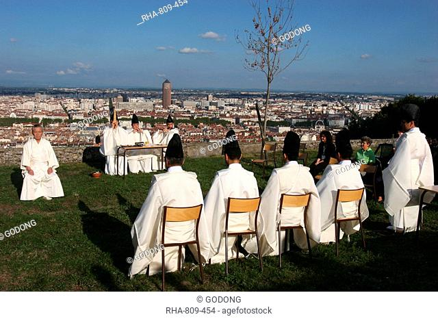 Shinto ceremony, Lyon, Rhone, France, Europe