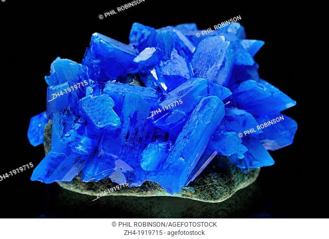 Chalcanthite crystals [hydrated copper sulphate]