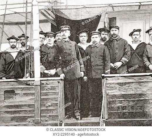 Pierre Loti, pseudonym of Julien Viaud, 1850 - 1923, seen here in 1892 in command of the Spanish gunboat Javelot. French novelist and naval officer