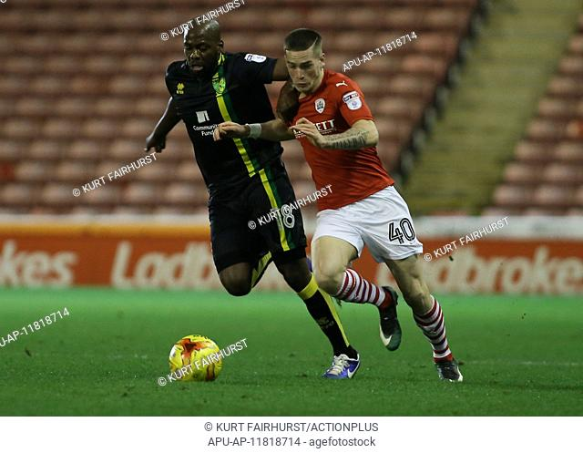 2016 Skybet Championship Football Barnsley v Norwich Dec 10th. 10.12.2016. Oakwell, Barnsley, England. Sky Bet Championship Football