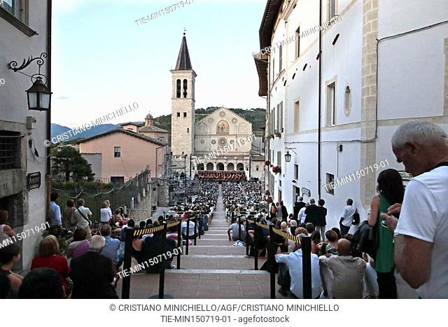 Festival dei 2 Mondi of Spoleto, closing concert in the Duomo square ,Spoleto, ITALY-14-07-2019