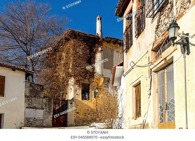 Street and old houses in old town of Xanthi, East Macedonia and Thrace, Greece