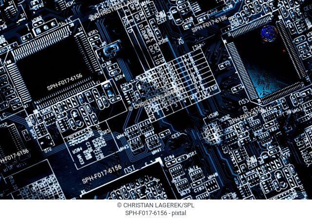 Computer circuit board and microchip