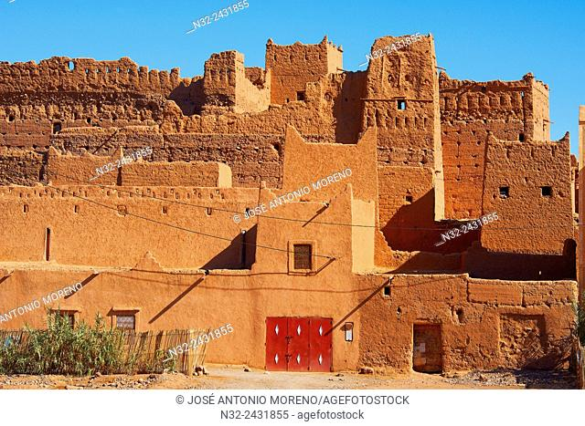 Old Kasbah, Zagora, Palm Grove, Oasis, Draa Valley, Souss-Massa-Draa region, Valley of the Draa river, Anti Atlas, Morocco, Maghreb, North Africa