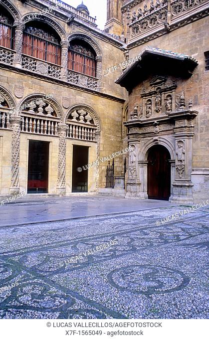 Royal Chapel of the cathedral Facade 16th century Granada  Andalucia, Spain