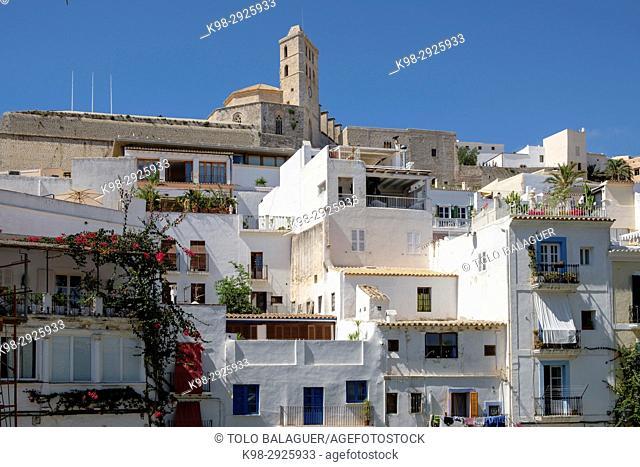 D'Alt Vila i catedral, Ibiza, Balearic Islands, Spain