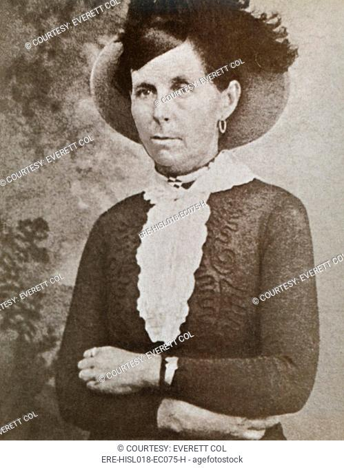 Belle Starr 1848-1889, a Western outlaw was born Myra Maybelle Shirley. In 1880 she married a Cherokee Indian named Sam Starr