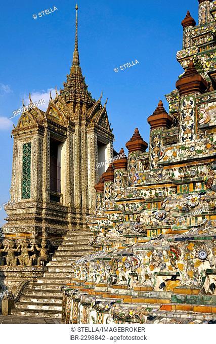 Wat Arun, Temple of Dawn, Bangkok, capital of Thailand, Southeast Asia, Asia