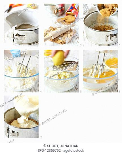 How to make a cheesecake with a biscuit base