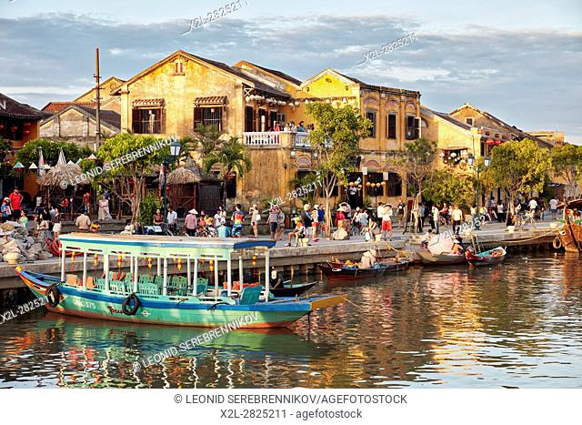 View of Hoi An Ancient Town and Thu Bon river. Quang Nam Province, Vietnam