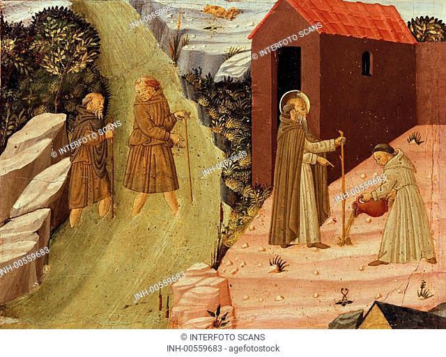Malerei, italienisch, Italien, 15  Jahrhundert, Gemälde, Kunst, Mittelalter, Gotik, Religion, Christentum, Toskana Schule