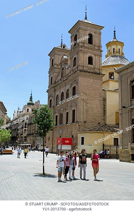 View from Santo Domingo square, City of Murcia, Spain, Europe