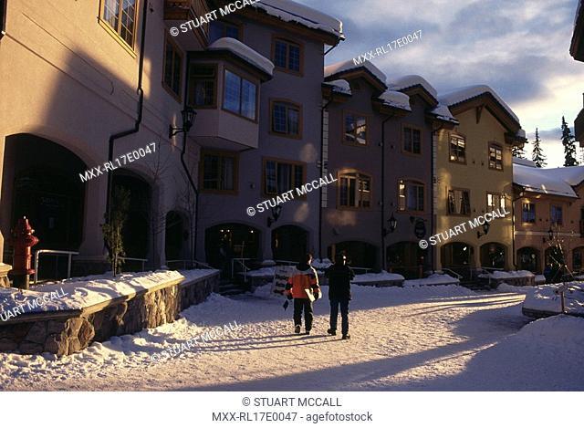Sun Peaks ski resort village, BC