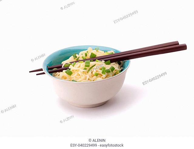 Dim sum with sour cream and green onions in a bowl